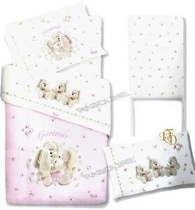 Copripiumino Trudi.Set Duvet Cover Sheets Bed Babysitting Newborn Virgilio Pink Trudi