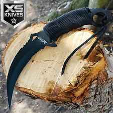 """10"""" M-TECH Tactical Combat Neck FIXED BLADE KNIFE Survival Karambit CLAW BLACK"""