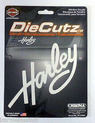 Harley-Davidson Harley Script DieCutz Sticker Decal NEW