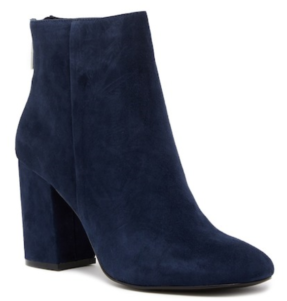 170 Größe 6.5 Kenneth Cole Caylee Navy Suede Heel Ankle Booties Damenschuhe Schuhes NEW
