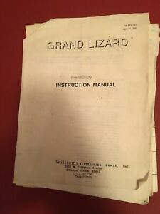 "Pinball/Pinball ""Comet"" Williams Operation's Manual"