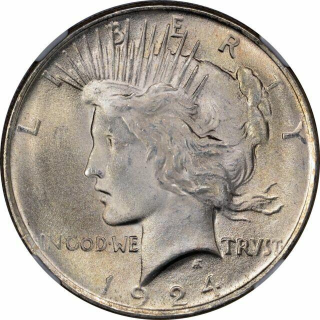 1924 Peace Silver Dollar Brilliant Uncirculated BU
