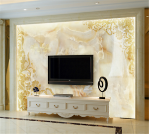 3d Yellow Marble 839 Wallpaper Mural Paper Wall Print Wallpaper