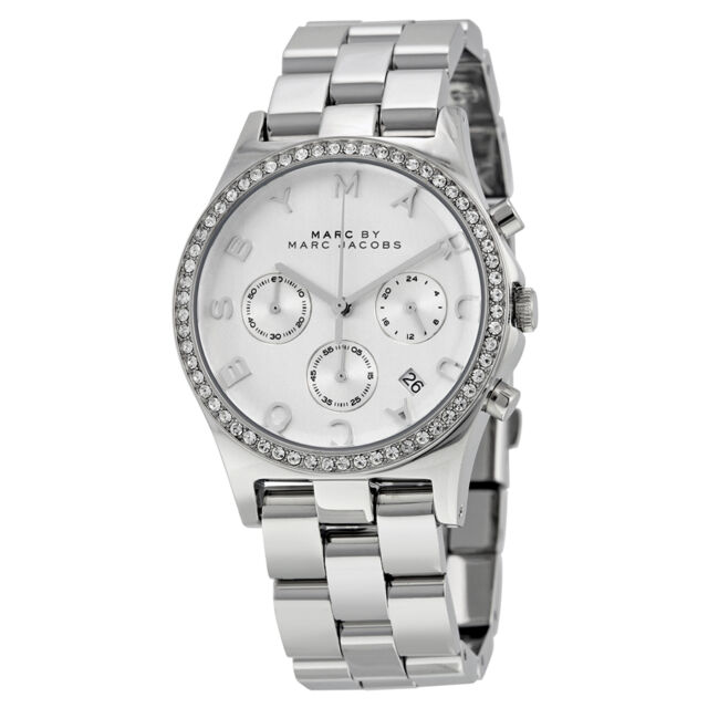 Marc by Marc Jacobs Henry Chronograph Silver Dial Stainless Steel Ladies Watch