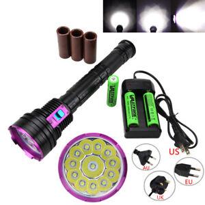 Diving-30000LUMENS-12x-XML-T6-LED-Scuba-Flashlight-Torch-Battery-Underwater-100M