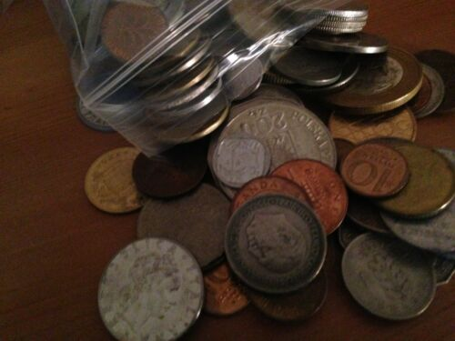 Bulk Lot of 100 Assorted World Foreign Coins Nice Assorted Mix!