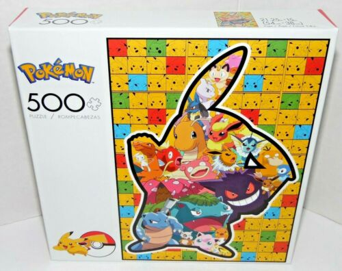 Pokemon 500 Pc Jigsaw Puzzle Pikachu Silhouette /& Friends NEW Buffalo Games