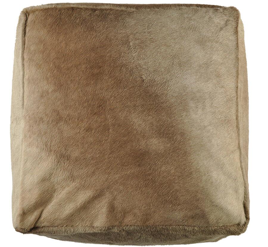peau de vache Pouf 60 60 60 60 30 cm Beige Champagne Tabouret repose-pieds | La Qualité Et La Quantité Assurée  6b994f