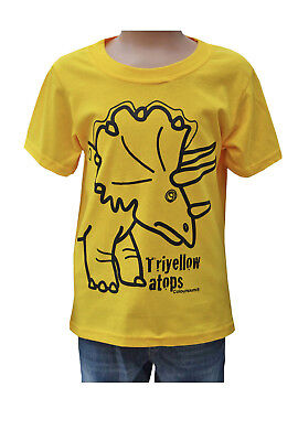 TRICERATOPS PERSONALISED KIDS DINOSAUR T-SHIRT ANY NAME BIRTHDAY GIFT JURASSIC