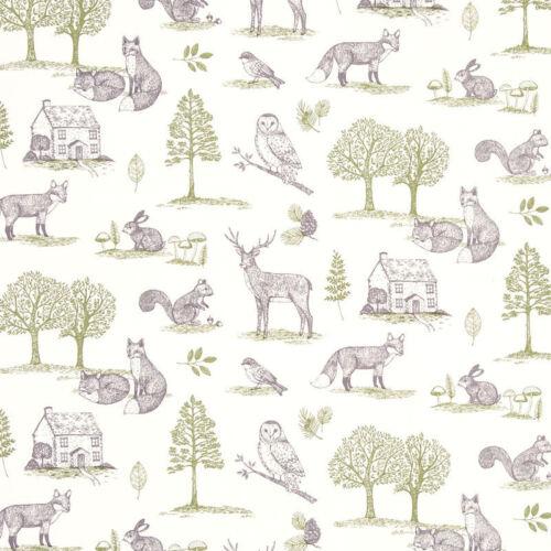 Studio G New Forest Natural Fabric Remnant 100/% Cotton 50cm x 40cm