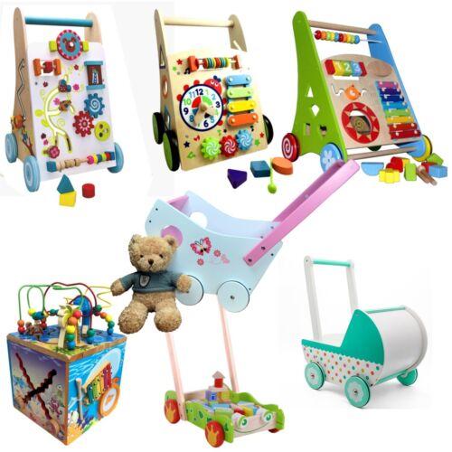 Baby Activ Holz Walker Lauflernwagen Lauflernhilfe Laufwagen Puppenwagen Gehfrei