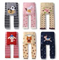 Toddler Baby Kid Boys Girls PP Pants Warm Legging Cute Pattern Trousers S M L