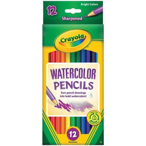 acrylique Crayola 12 ct Aquarelle Crayons de couleur multicolore 9.39x17.9x0.88...