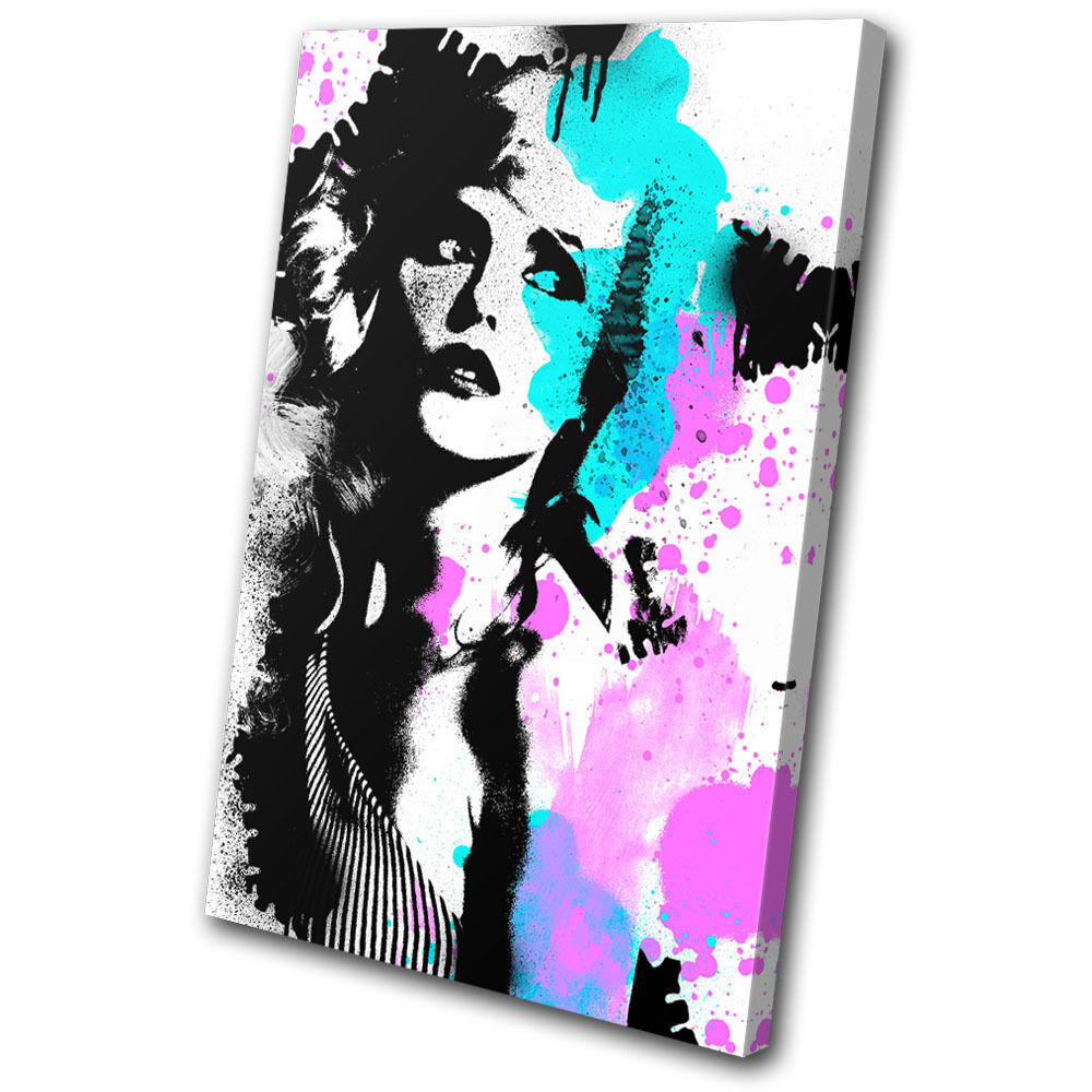 Musical Blondie Grunge Abstract SINGLE TELA parete arte arte arte foto stampa 1e3c43