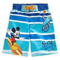 Disney Store Mickey Mouse Swim Trunks Shorts Boy Size 3 4