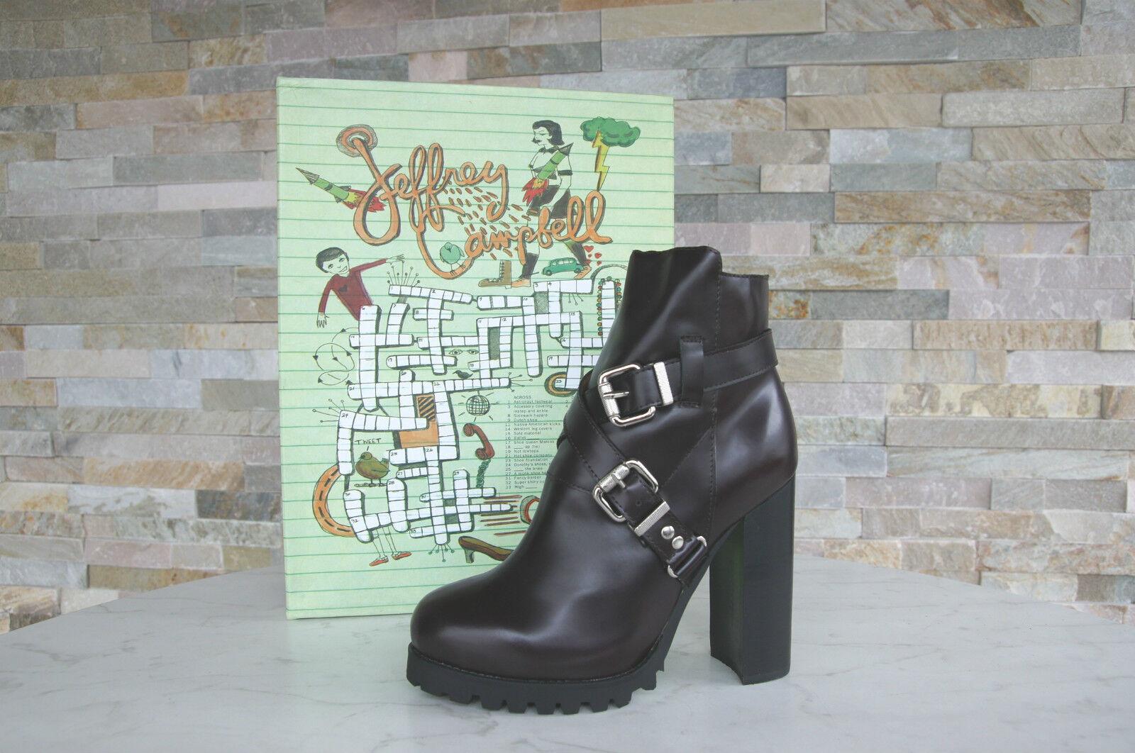 Jeffrey Campbell JCO Gr 40 40 40 Stiefeletten Booties Ankle Stiefel weinrot neu 039209