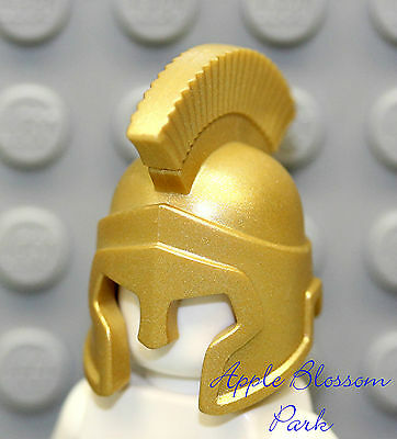 NEW Lego Atlantis GOLD HELMET Roman Soldier Hat - Minifig King Head Crown 7985