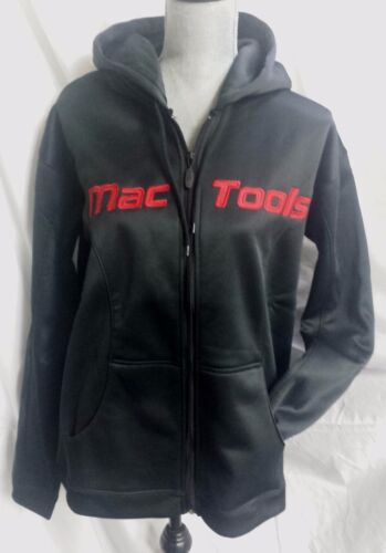 MAC TOOLS Ladies Black EMBROIDERED ZIP FRONT HOODIE Size XL $13.99 SHIPPING