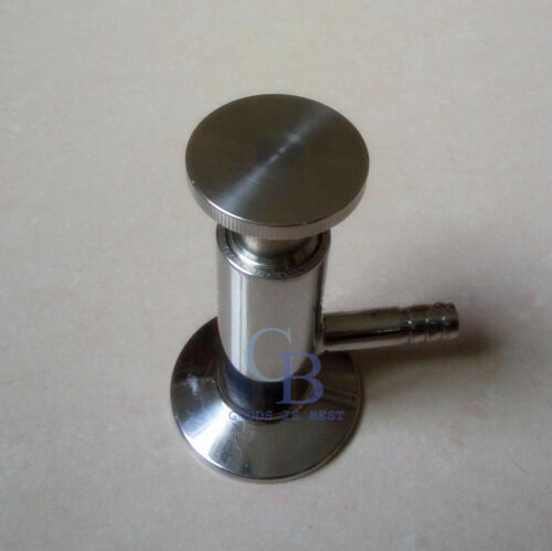 "1//2/"" Sanitary 316 Stainless Steel 25.2mm OD Tri-Clamp Sampling Valve PTFE Seal"