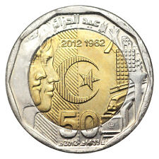 ALGERIA 200 DINAR 50th ANNIVERSARY OF INDEPENDANCE BIMETAL BI-METALLIC 2012 UNC