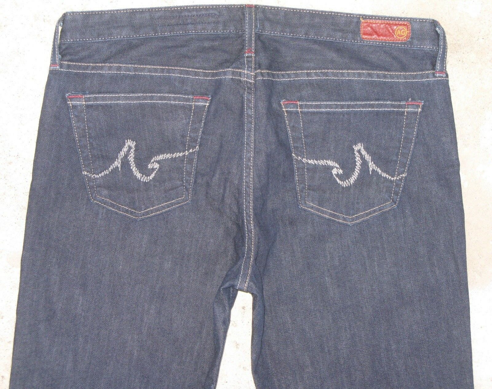 AG ADRIANO goldSCHMIED The Angel Jeans Sz 30 Low Bootcut Dark bluee w Stretch