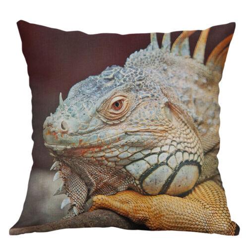 """18/"""" Lizard Imprimer Coton Lin Taie d/'oreiller Housse Taille Housse de coussin Home Decor"""