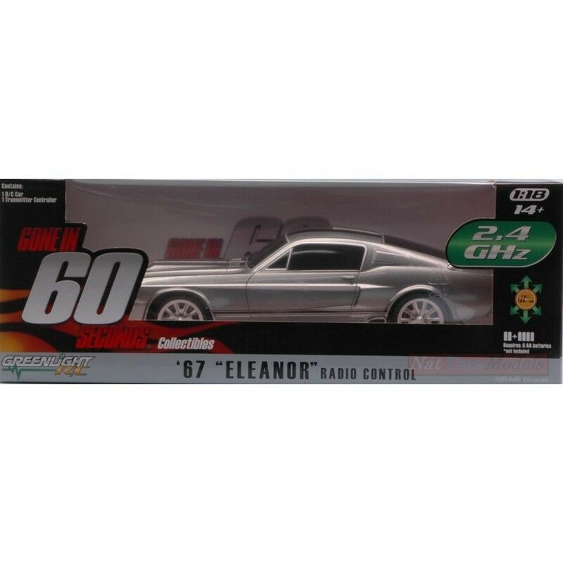 VerdeLIGHT verde91001 SHELBY GT-500 1967 ELEANOR RADIOCOMANDO 1:18 DIE CAST