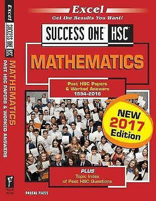 Excel Success One - HSC Mathematics 2017 by Pascal Press (Paperback, 2017)