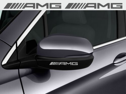 AMG car wing mirror decals vinyl stickers 90x9 mm 6 pieces