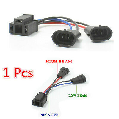 2PCS H11 to H4 Harness Adapter For Harley Davidson Road King Dual Beam Headlight