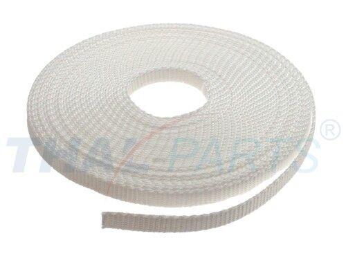 10m Gurtband 10mm Breit Rohweiss PP Taschengurt Taschenband 1,6mm stark ca