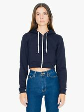 American Apparel Cropped Flex Fleece Zip Hoodie M