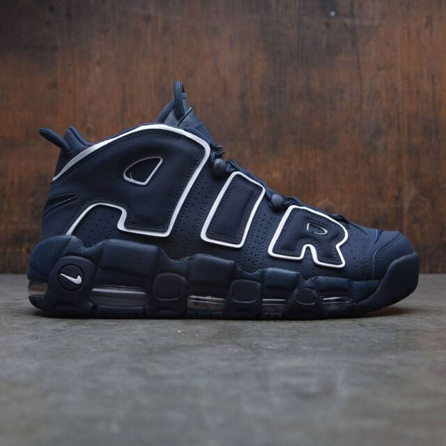 84a9660c1f Nike Air More Uptempo 96 Obsidian Dark Navy White Pippen 921948-400 ...