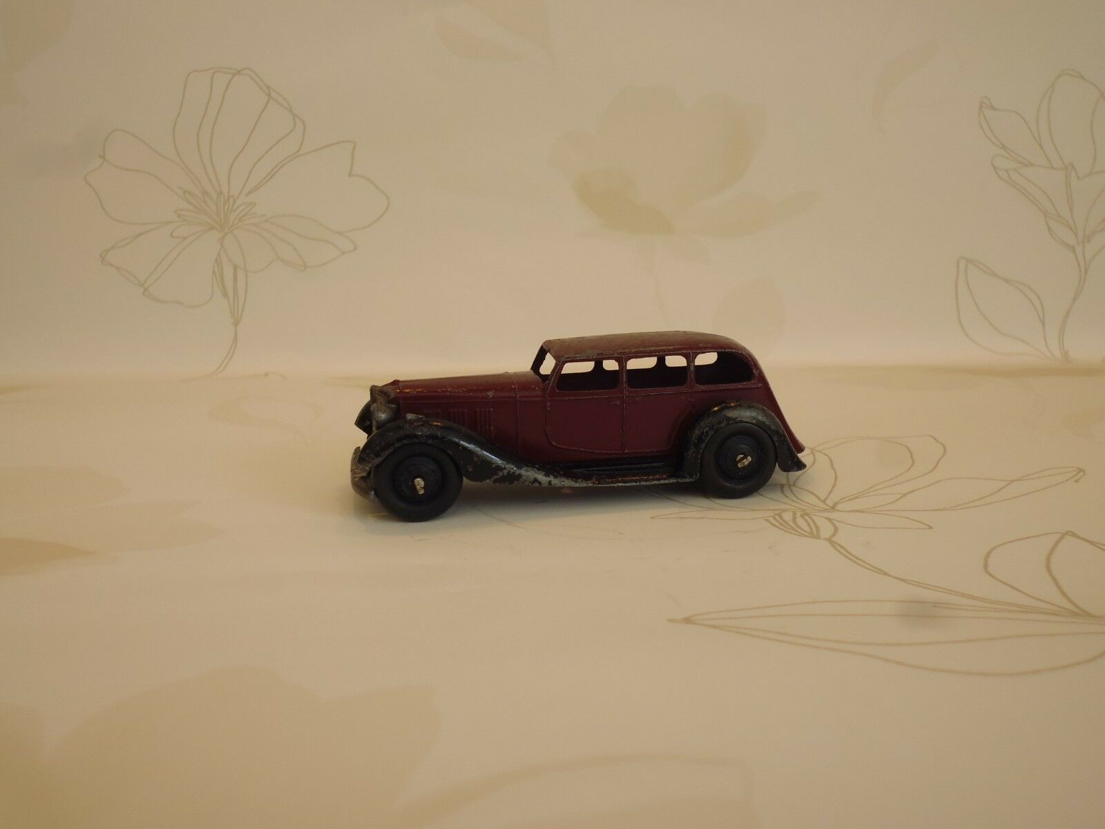 Vintage DINKY TOYS RARE marron couleur Armstrong Siddeley 36 A Modèle issued 1946