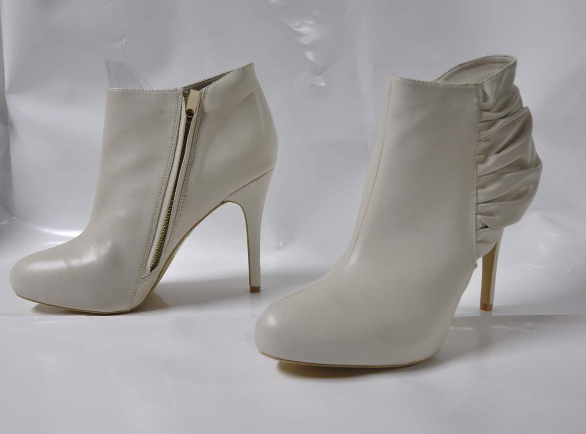 Colin Stuart Ivory hi-heel bootie - Size 11, 4.75  heel 3 4  platform - New