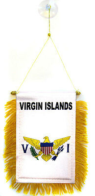 """State of Louisiana Mini Flag 4/""""x6/"""" Window Banner w// suction cup"""