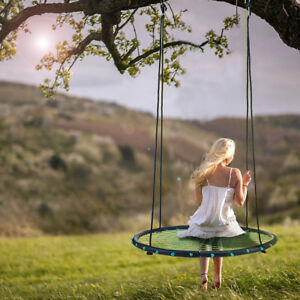 60cm Tree Swing Spider Web Spinner Swing Outdoor Kids Tire Swing Set