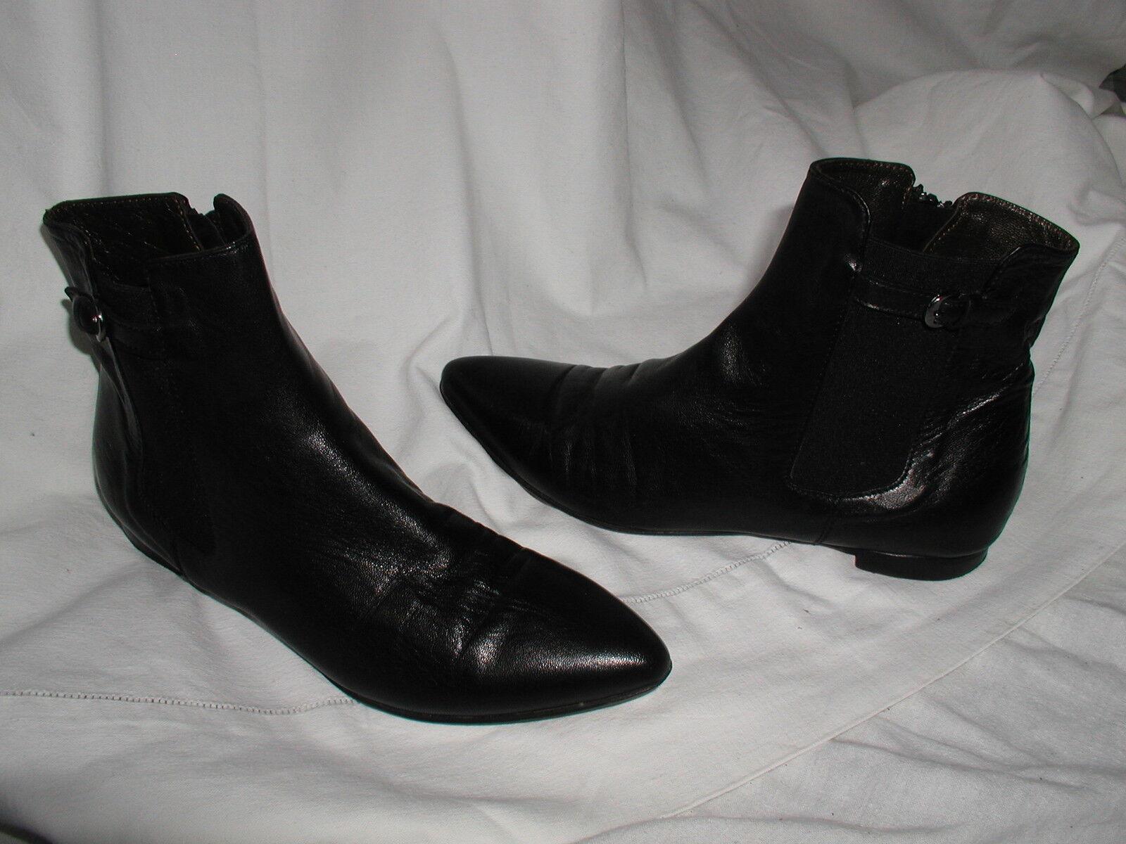 Boots bottines ATTILIO GIUSTI LEOMBRUNI cuir black 36