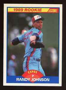 1989 Score Randy Johnson #645 Rookie Card RC Montreal Expos Pack Fresh Centered
