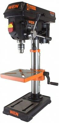 """WEN Drill Press Laser Centering 10"""" 5-Speed Powerful Induction Motor Durable"""