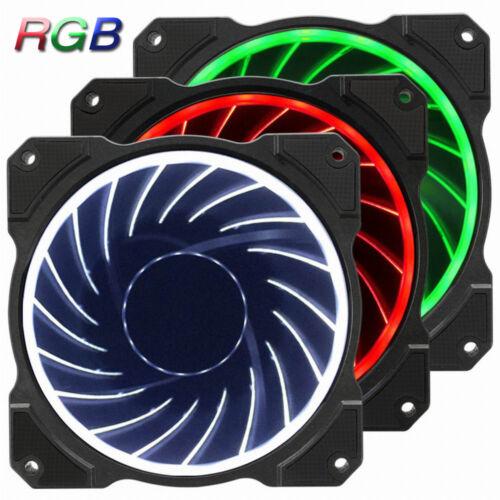 Set of 3 Jonsbo Computer Case Fan Cooler 120mm 6 Pin 256 RGB LED Speed Control