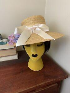 Vintage-40s-50s-Straw-Hat
