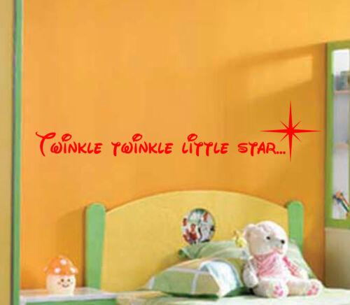 Twinkle twinkle little star Child/'s Wall Art Sticker Vinyl Bedroom Playroom Song