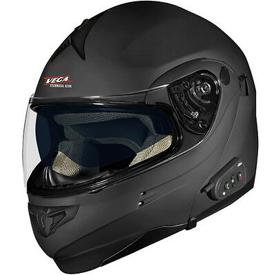 *Ships Same Day* Vega Summit 3.0 w/ V-Com (Flat Black) Helmet   Matte Black