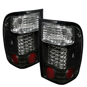 Image Is Loading Pair Black Led Tail Lights Lamps Ford Ranger