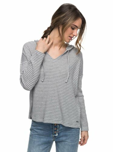 Roxy Womens Lovely Aside Stripe Shirt Heritage Heather Gray