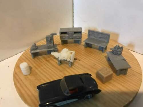 Ho 1//87 Scale Machine Shop Furniture.