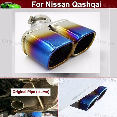 Blue Curved Exhaust Muffler Tail Pipe Tip Tailpipe For Nissan Rogue 2014-2019