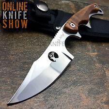 "7"" ELK RIDGE TACTICAL FIXED BLADE Burl Wood Survival Hunting Knife w/ SHEATH NEW"
