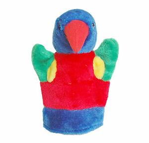 Lorikeet-Bird-soft-plush-Hand-Puppet-with-Squeaker-10-034-25cm-NEW